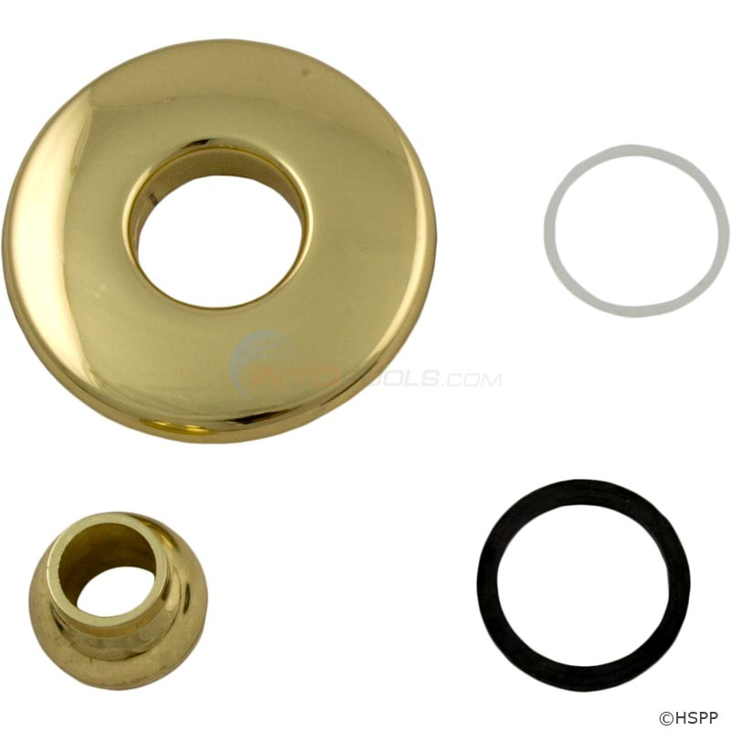 Hydrabaths Futura Jet Face, Polished Brass