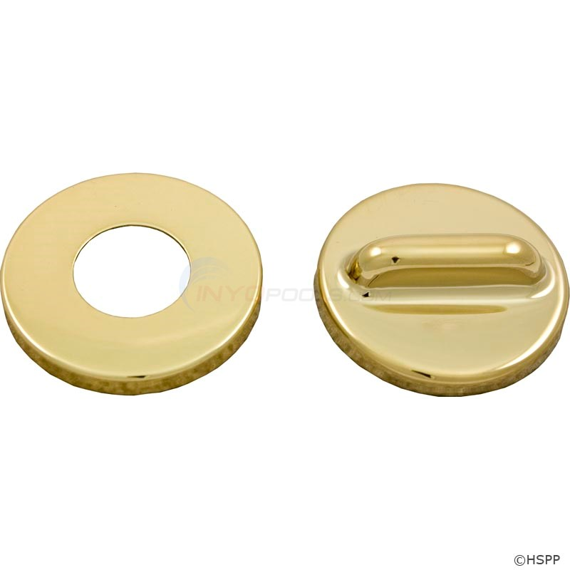 "Mini Air Control 1/2"" Pol Brass Escutch.(2pcs) (10-2255MPB)"