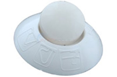 WHITE PLASTIC RECESSED MOUNTING WASHER