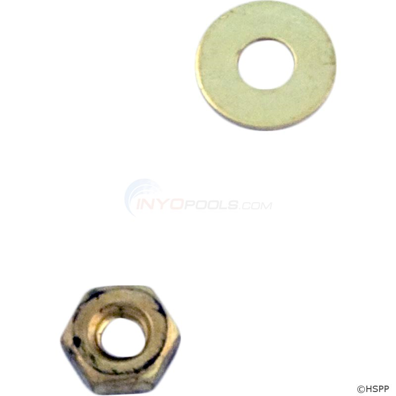 NUT, HEX With WASHER (BRASS) (3550-091 & 092 1EA)