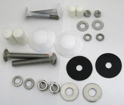 Interfab Complete Edge Board To Edge Base Mounting Kit, 4 Bolt Stainless (edge-m)