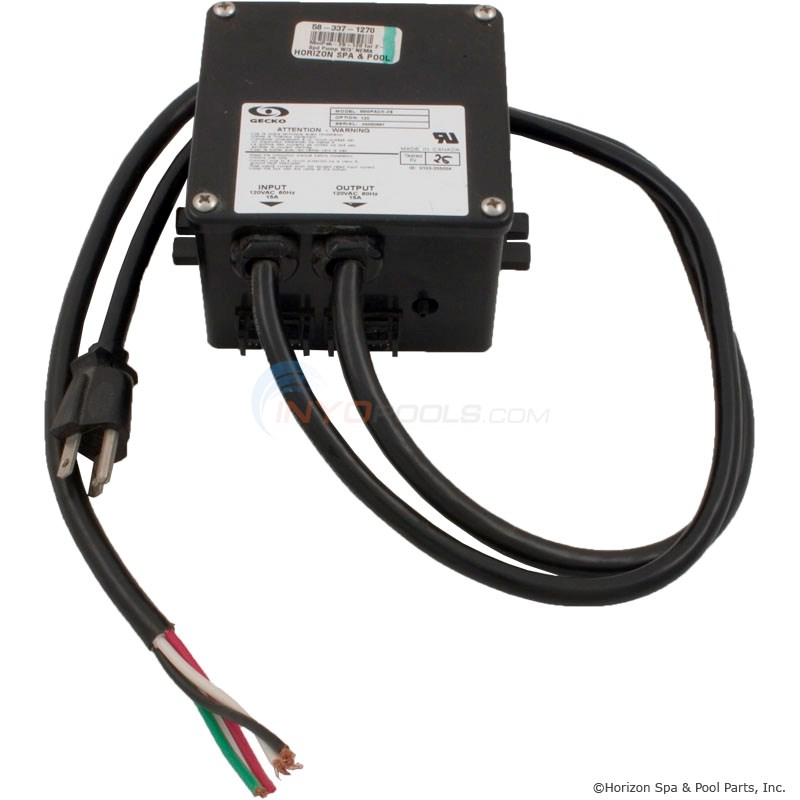 MiniPak-2S-120 for 2-Spd Pump W/3` NEMA Cord (3-70-6052)