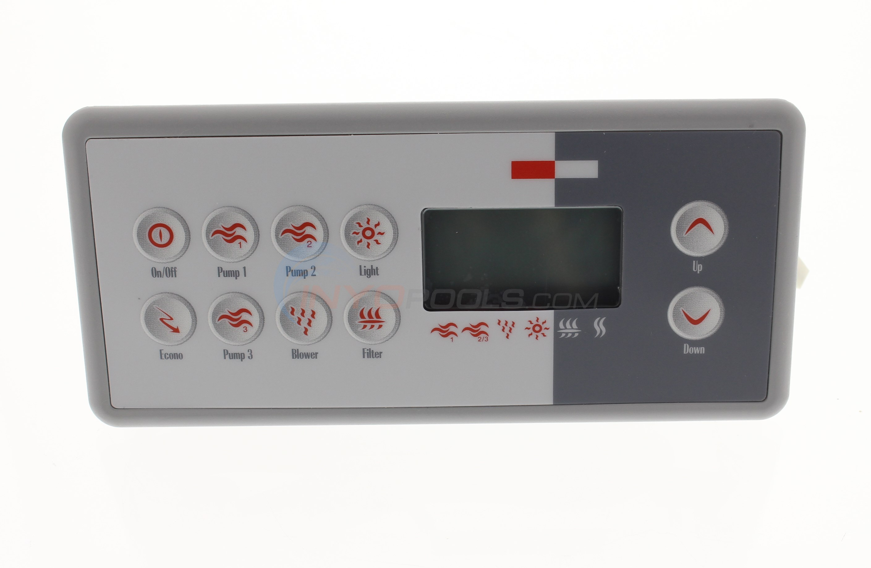 Panel,TSC-8/K-8 Lg Rec,10-Button,LCD,3-Pump,MSPA-MP (BDLTSC810K)