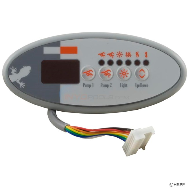 Panel,TSC-9/K-9 Sm Oval,4-Button,LED,Dual Pump,S Class (BDLTSC9GE2)