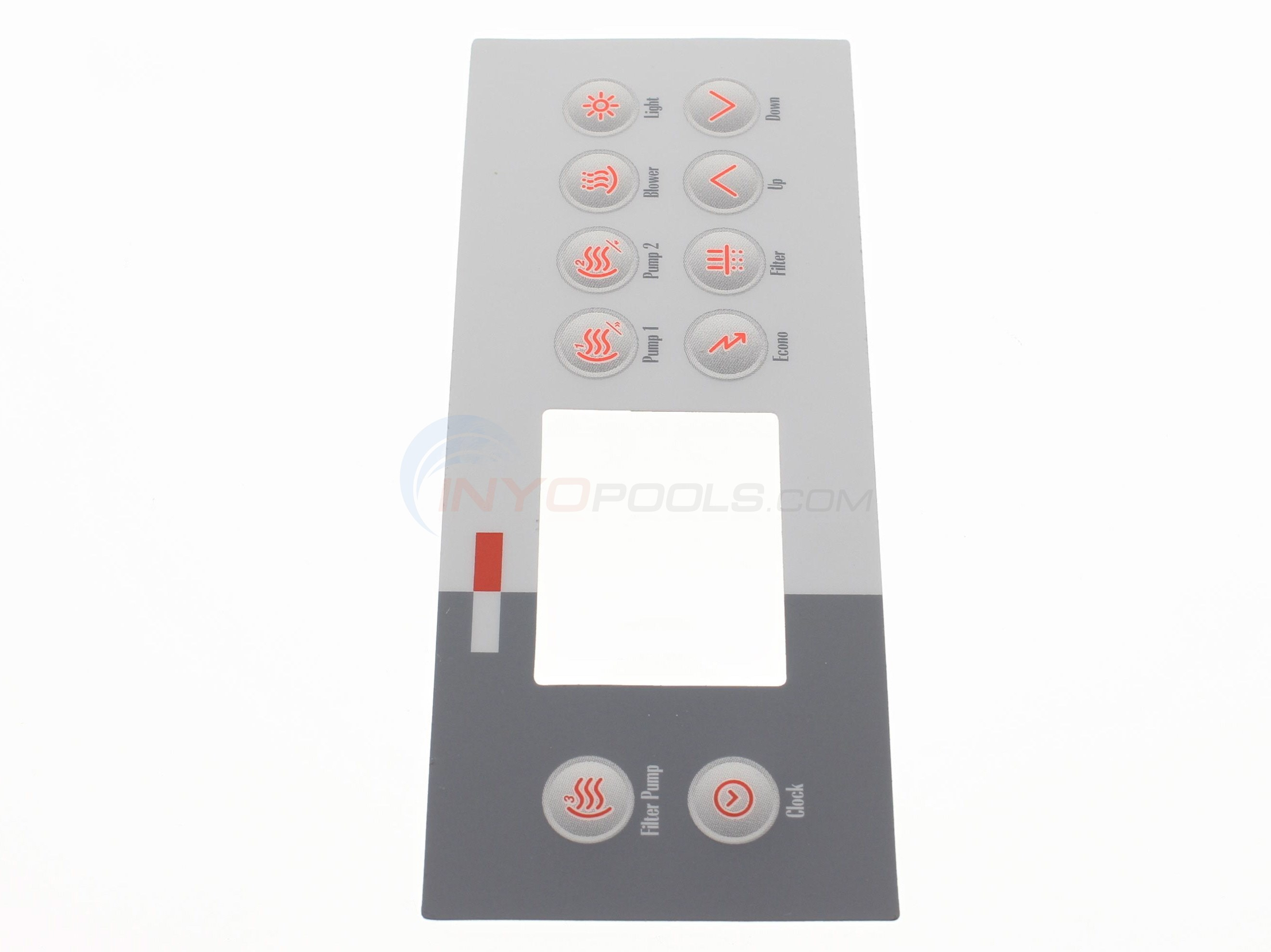 Label,TSC-4(10-key)Filt Pmp,Clock,P1,P2,Bl,Lt,Eco,Filt,Up/Dn (9916-100761)