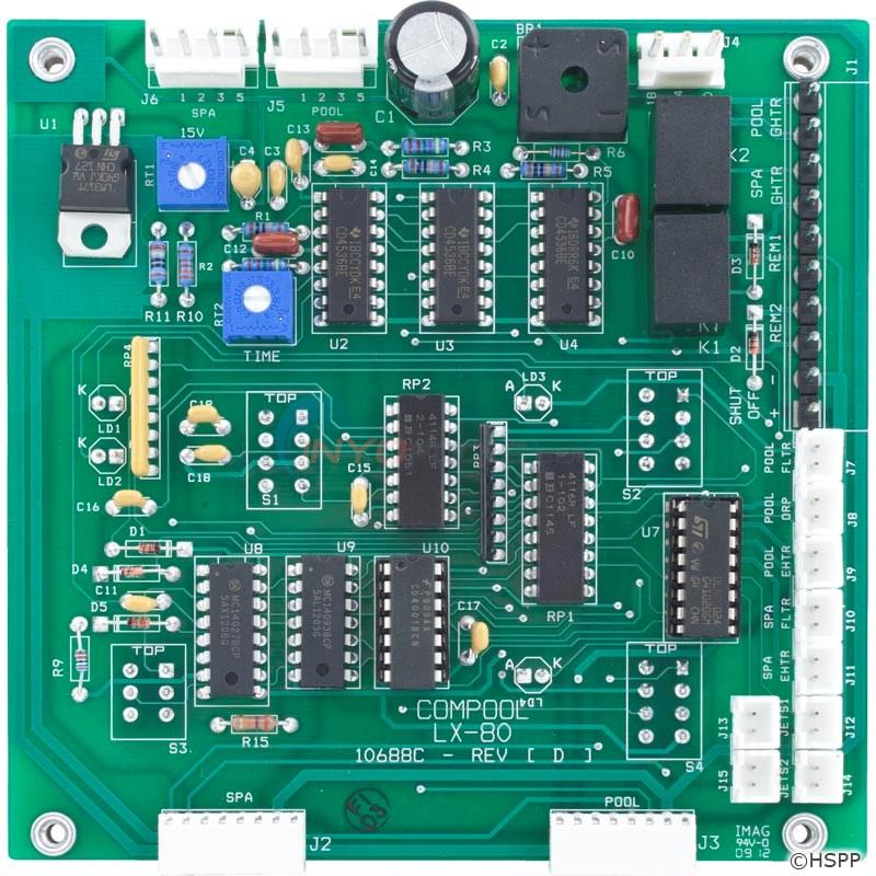 pentair circuit board lx80 pclx80 inyopools