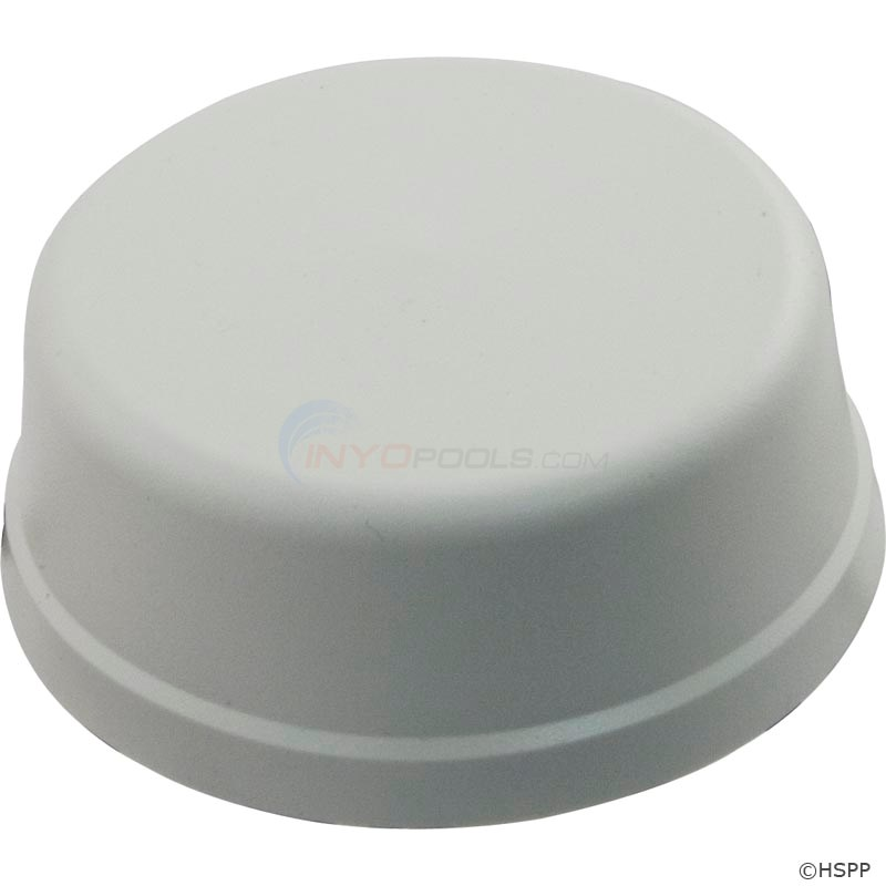 Mushroom Button, Flat Mount, White (no tubing) - 59-345-1505