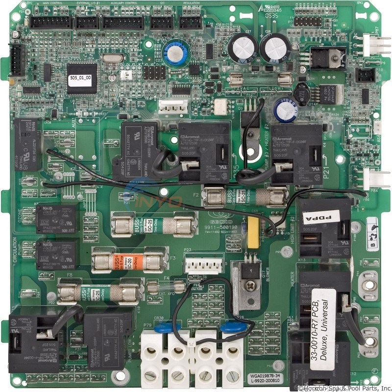 HQ PCB Deluxe Series 120v (Rev 8, After 5/03) (33-0010-R8)