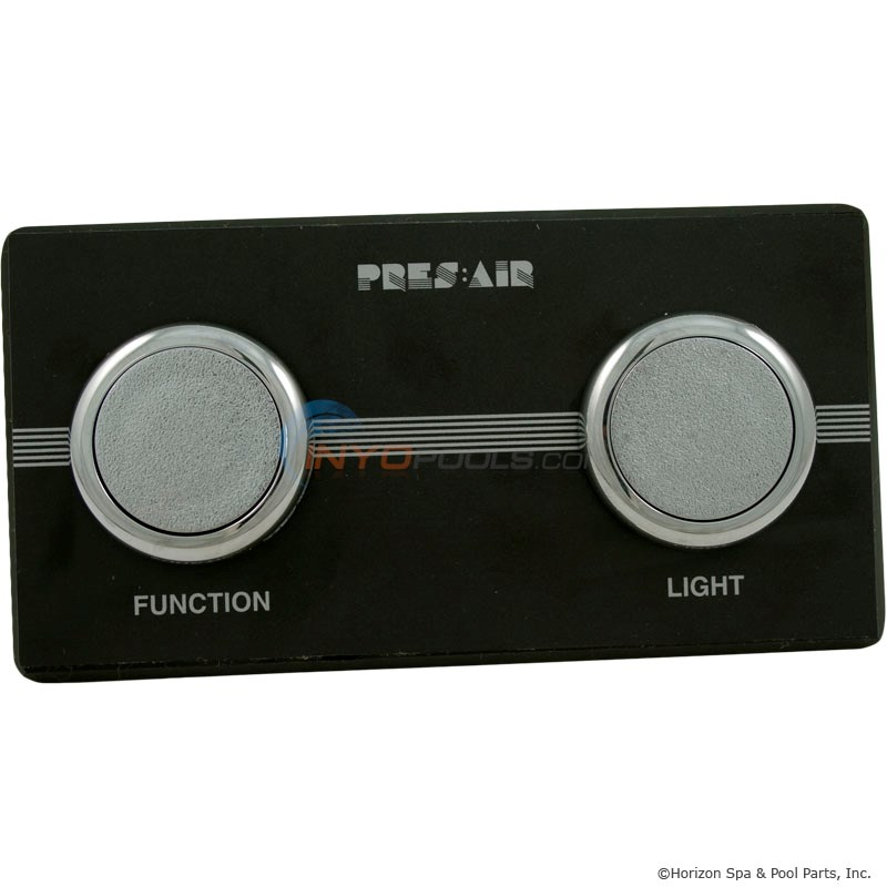2-Button Panel Kit Black/Chrome (PB318BC2)