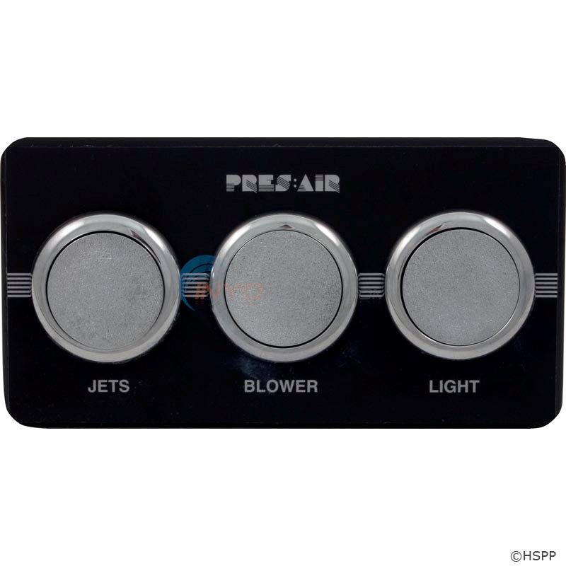 3-Button Panel Kit Black/Chrome (PB318CA3)