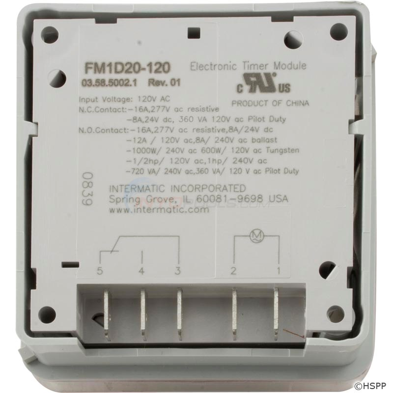 Digital Time Control 120v Panel Mount (FM1D20E-120)