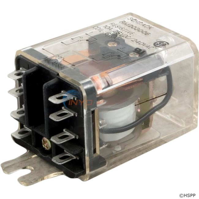 Dustcover Relay 6VDC 15A DPDT - 60-285-1002