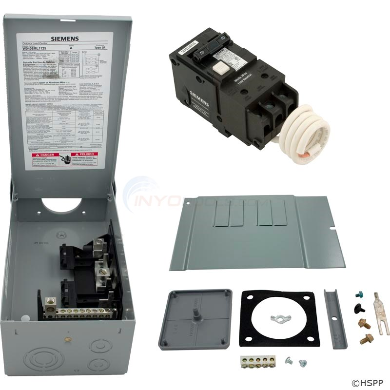 50Amp Siemens GFCI Load Center (GFCI50A-KIT)