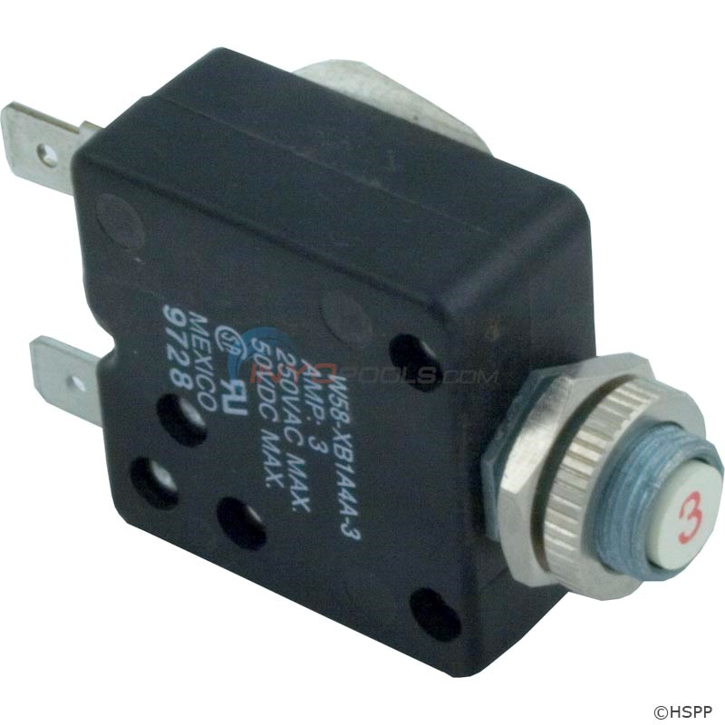 Circuit Breaker, Panel Mount, 3A, 120V - 60-555-1010