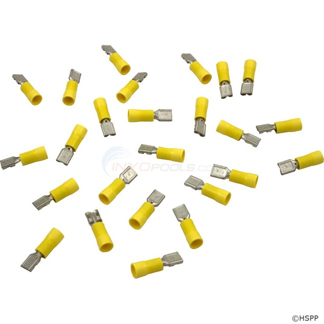 "Female Disconnect, Yellow 12-10AWG, .250"" Tab (Pkg 25) - 60-555-1769"