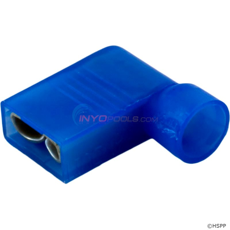"Right Angle Female Disc., Blue 16-14AWG .250"" Tab (Pkg 25) - 60-555-1775"