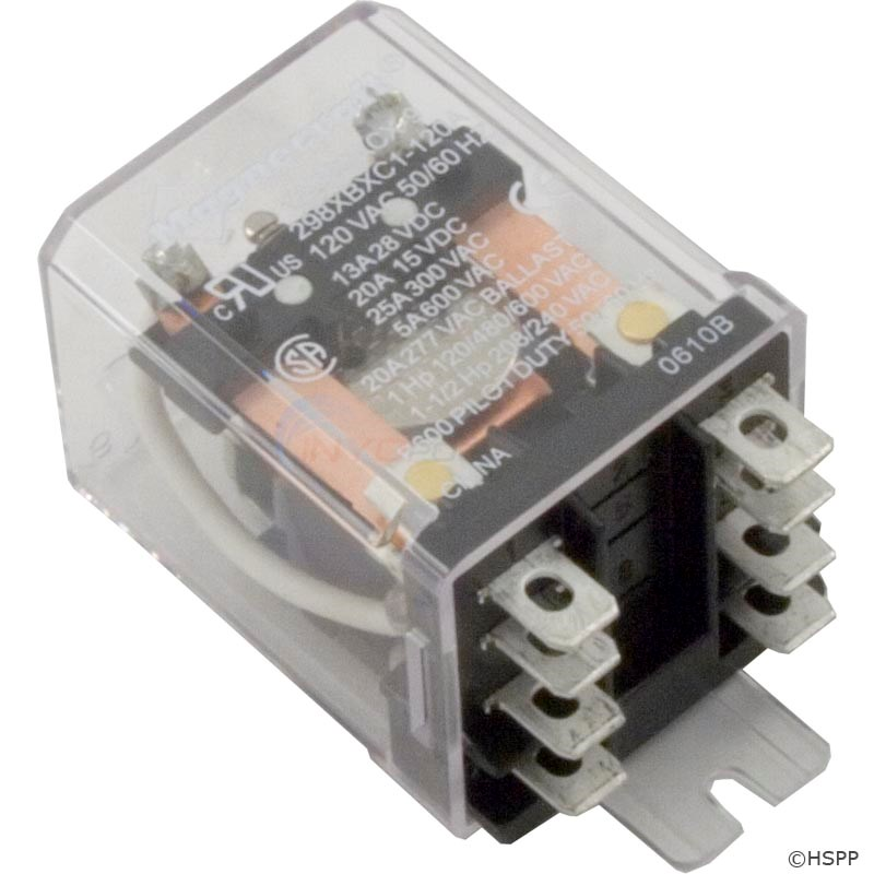 Dustcover Relay, DPDT, 120v, 25A (W389ACX-9) - 60-583-1005