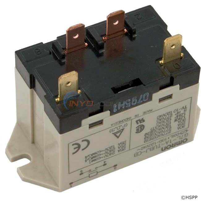 Omron Relay, SPST, 120v, 30A - 60-584-1000