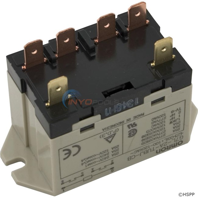 Omron Relay, DPST, 120vac Coil, 25A - 60-584-1005