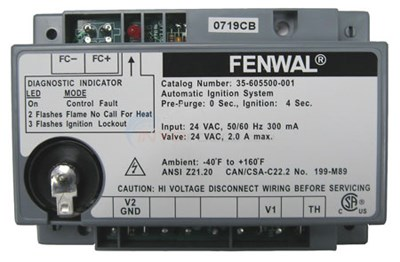 Pentair 471091 DSI Control Replacement MiniMax 75//100 Pool or Spa Heater