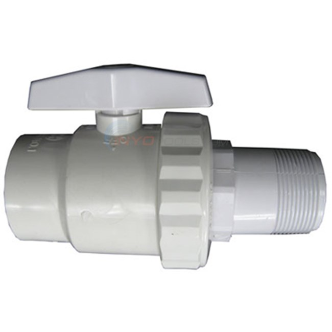 "Hayward Ball Valve,trimline 2-way 1.5""mxsl Wg (sp0723s)"
