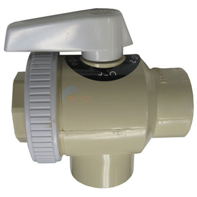 "Ltd Qty Ball Valve, 3 Way, 1 1/2"" Skt - 6651E"