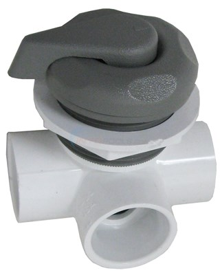 "Diverter Valve 1"" Horizontal 2-port, 5 Scallop Gray"