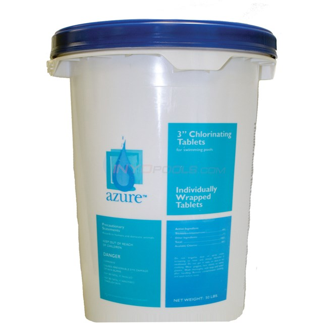 Blue Wave 3 inch Chlorine Tablets 100 lb. pail - NC1442