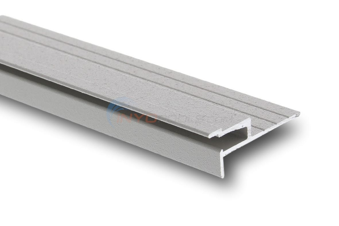 "Cinderella HM-3 Horizontal Mount Coping 1 Ea., 48"" Gray Liner Track Notched at 2"" - CPHM3N2X48"