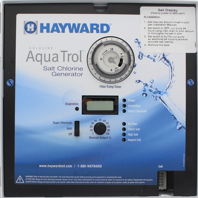 Goldline Controls Aquatrol Hp Chlorine Generator