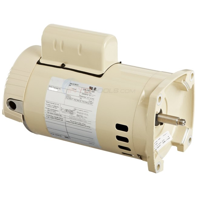Pentair 1 HP Full Rate 56Y Motor, Almond - 355022S - 075234S
