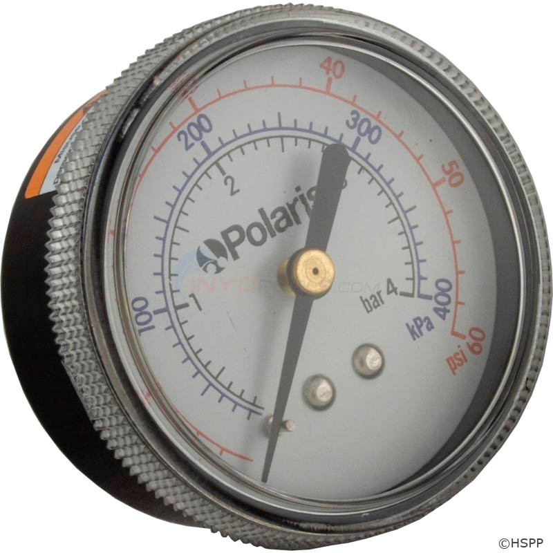 Clnr pressure gauge Caretaker Water Valve Polaris (1/3/2001)