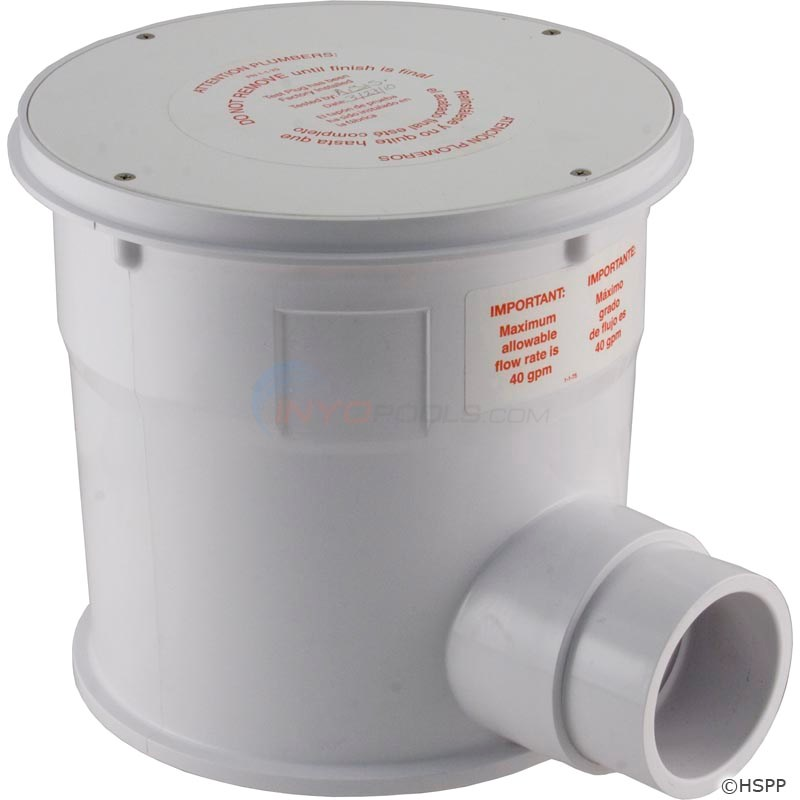 MOLDED FLOOR CANISTER ONLY, WHITE - CONCRETE (NEWLT)