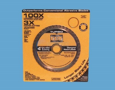 "Saw Blade, Diamond Masonry , 4"" - 91104030B"