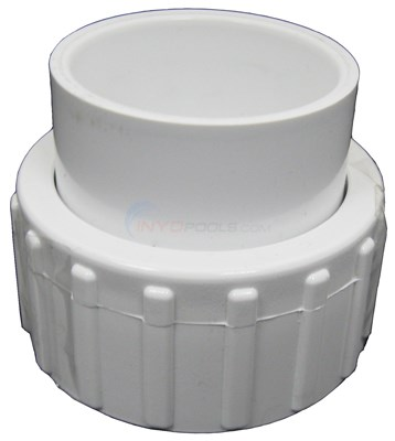 "Union 1-1/2"" Nut X 1-1/2"" Slip White"