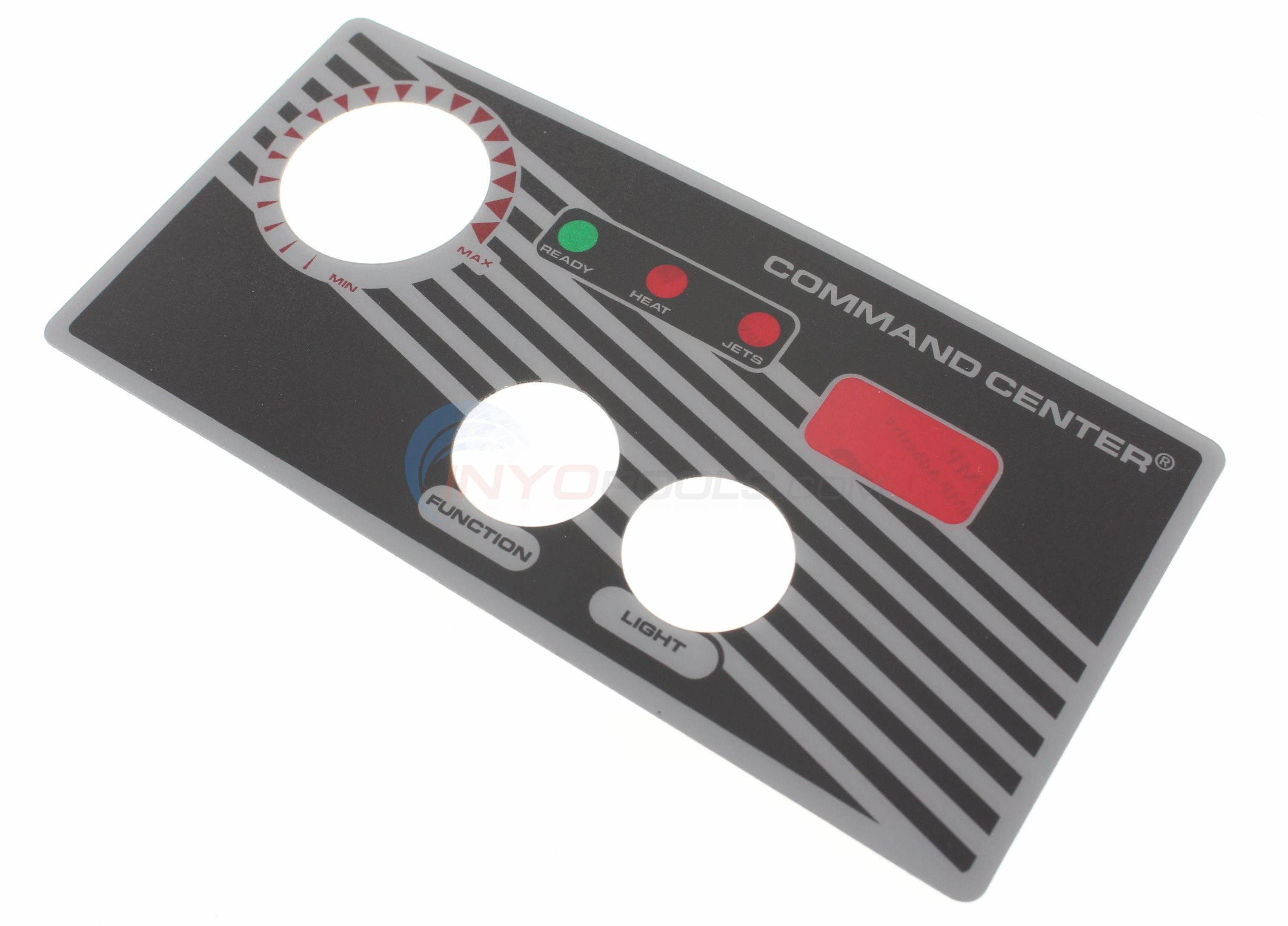 2-button faceplate with display