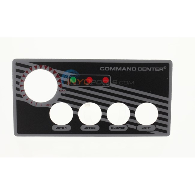 TecMark Label, Faceplate,4 Button Sc (30202bm)