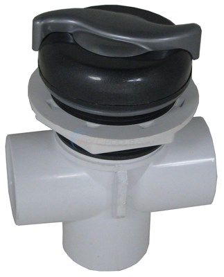 "Diverter Valve, 3 Way, 1"" Slip, S Handle, Graphite Gray/silver"