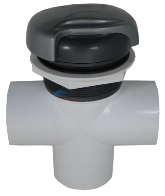 "Diverter Valve, 3 Way, 2"" Slip, Wave Handle, Graphite/silver"
