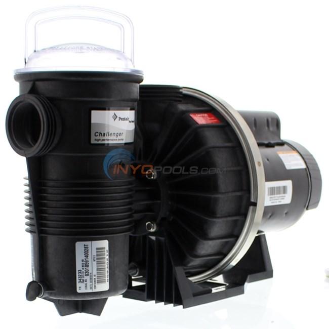 Pentair challenger 1 hp 115 230v ur pump 343233 for Pentair challenger pump motor