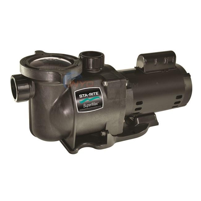 Sta rite supermax 2 1 2 hp pump 230v phk2raa6g105l for Sta rite pump motor