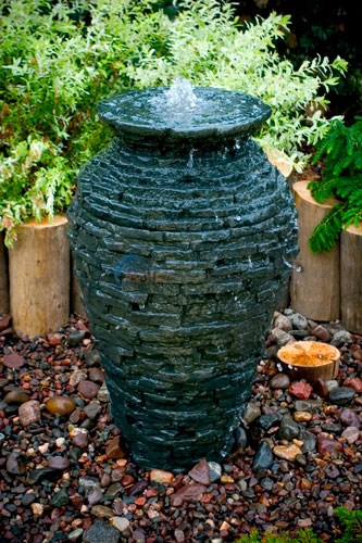 Aquascape Stacked Slate Urn - Small - 98939
