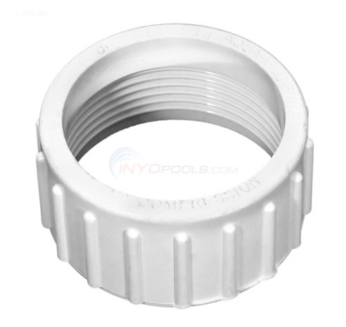 "Compression Nut, Union 1-1/2""FBT, Solid Plastic - 91431000"