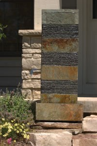 "Aquascape Slate Ridged Column Fountain - 48""H - 98257"