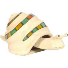 "Aquascape Stained Glass Snail Statue - 6""H - 98325"