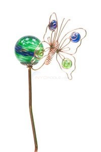 "Aquascape Glass Butterfly With Glow Ball Garden Stake - 36""H - 98330"