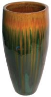 "Aquascape Tan/Green Tall Ceramic Urn - 40""H - 98474"