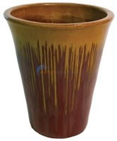 "Aquascape Tan/Red Ceramic V-Shaped Urn - 26""H - 98478"