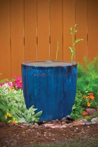 "Aquascape Dark Blue Vertical Grooved Ceramic Pot - 23""H - 98479"