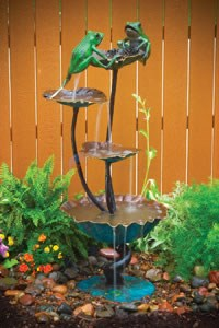 Aquascape Two Frogs on Lotus Fountain (Special Colorful Patina) - 98518